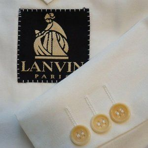 Lanvin by Canali White 100% Cotton Sport Coat Jack